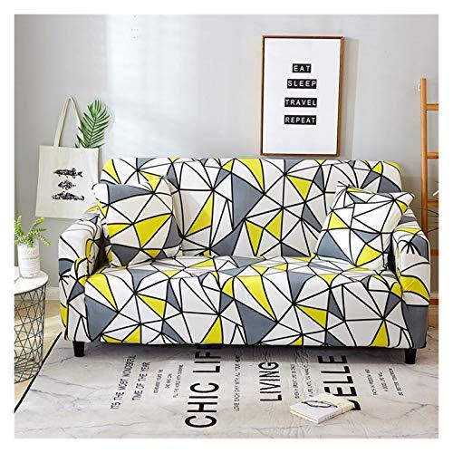 NEWRX Cubierta de sofá de Estilo Bohemio Cubierta de sofá elástico de algodón COPRIDIVANO Sofá Fundas para Sala de Estar Silla Individual Sofá Asignación