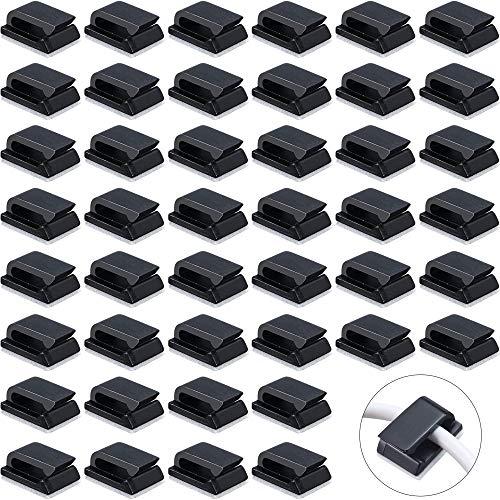 200 Stück Selbstklebend Kabelclips Draht Kabel Halter Kabel Clips Kabelklemmen Kabelhalter Selbstklebende Kabelschellen Selbstklebende Drahtklammern für TV-PC Laptop Ethernet-Kabel Desktop Home
