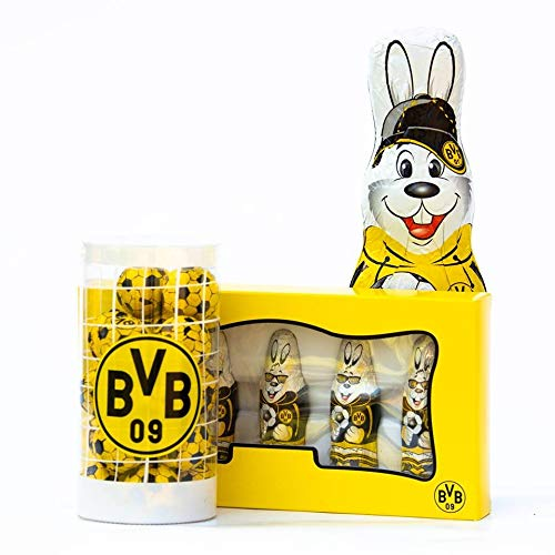 Borussia Dortmund Schokoladen Osterpaket 3-teilig, Ostern Schoko-Fanpaket BVB 09 (L)