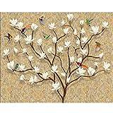 Fondo de pantalla personalizado mural 3d pintado a mano europeo árbol genealógico vida árbol fondo pared sala de estar dormitorio fondo de pantalla 3d-450X300CM