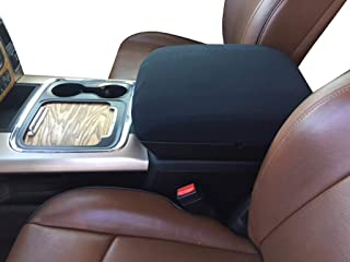 Auto Console Covers- Fits The Ram 1500, 2500, 3500 2012-2020 Center Console Armrest Cover Waterproof Neoprene Fabric (Black)
