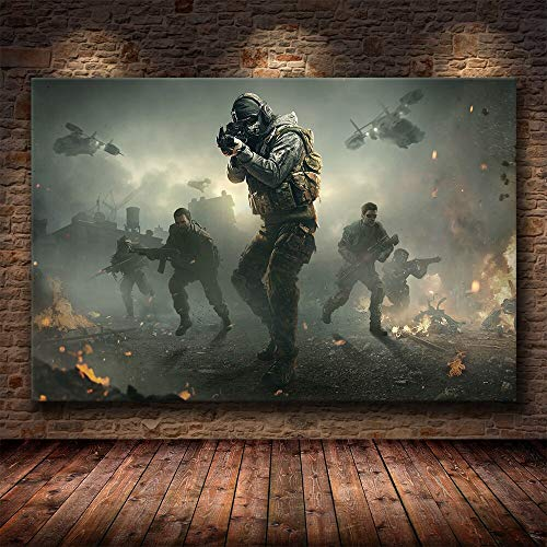 JIAYOUHUO Póster Artístico de lienzo de Call Of Duty e impreso pintura lienzo sin marco cuadro decorativo para dormitorio hogar Cuadros Decoración