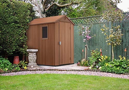 Keter 245957 - Casetta da giardino Darwin, colore: Marrone