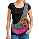 Zwini Pet Carrier Hand Free Sling Puppy Carry Bag Small Dog Cat Traverl Carrier with Breathable Mesh Pouch for Outdoor Travel Walking Subway 12LB