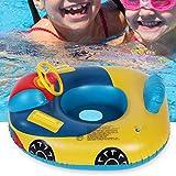 XIALIUXIA Kinder Aufblasbare Auto-Modell-Wasserspielzeug, Aufblasbare Schwimmen Ring Sommer Lenkrad...