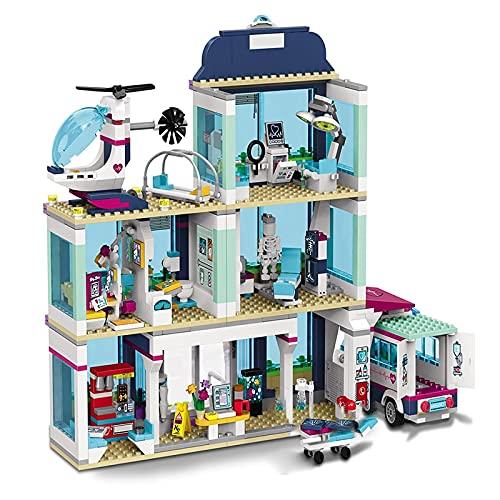 Legxaomi 932PCS pequeños bloques de construcción compatibles con amigos Heartlake City Hospital Modelo Kit de regalo Juguetes para niñas niños niños DIY Sets