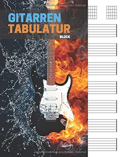 Gitarren tabulatur block: 7 Tabulator Zeilen pro Seite, 6 Gitarren Akkorddiagramme pro Seite. Ideal für musiker, gitarristen oder musiklehrer.(110 ... A4, Gitarren Tabs, tabulatur, tab heft)