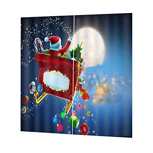 szseven Frohe Weihnachten Nette Schneemann Anti-UV Hohe Blackout Fenster Vorhänge für Schlafzimmer Wohnzimmer Kinderzimmer Dekoration (150 * 166cm/59 * 65'')