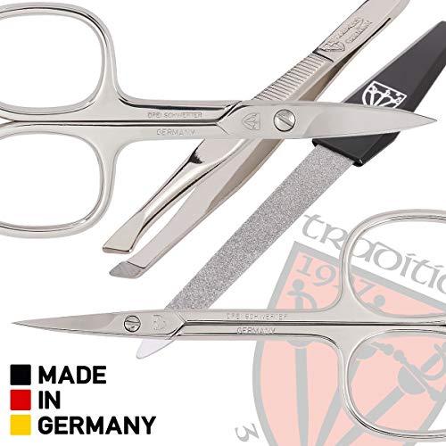 Trois Swords - 8 Piece manucure et pédicure, en cuir artificiel de haute qualité, Etat: Made in...