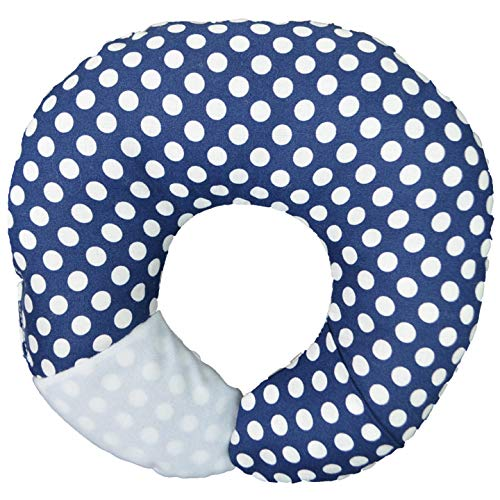 Image of the Babymoon Pod - For Flat Head Syndrome & Neck Support (Navy Dot)