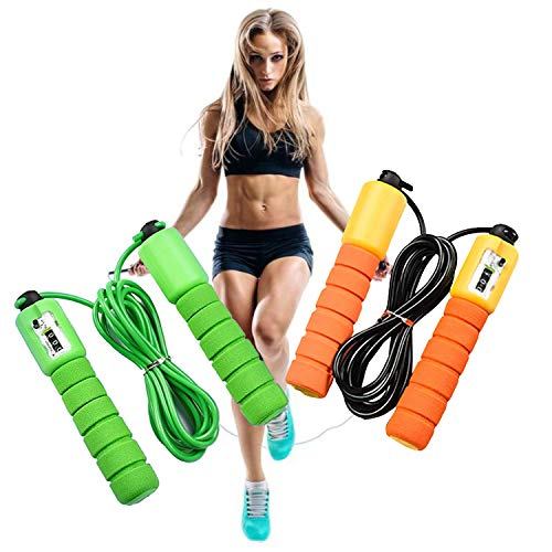 Corda per saltare | Corda da Saltare per Bambini e Adulti | Corda per Saltare da Fitness e Allenamento - Regolabile | Conteggio dei salti | Ideale per Esercizi Aerobici…