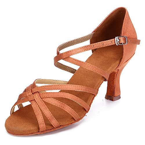 HIPPOSEUS Mujeres Zapatos de Baile Latino Práctica de saté
