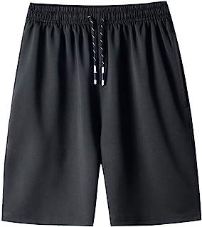 comprar comparacion VPASS Pantalones Cortos Hombre Verano Chándal de Hombres Color sólido Gym Deportivos Transpiración de Secado rápido Elásti...