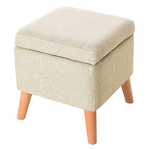 Gewatteerde voetenbankje, gewatteerd voetenbankje, bureaukruk, draagbare thuisstoel, multifunctionele ruimtebesparend, voor woonkamer, eenvoudige vierkante kruk, creatieve stof
