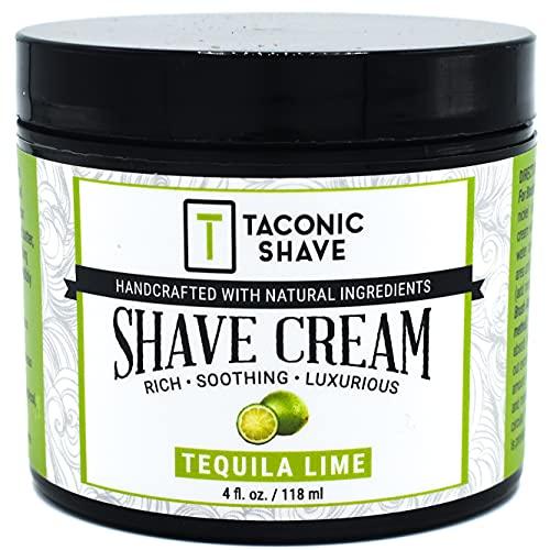 Taconic Shave Cal Crema de afeitar, crea una espuma rica y lujosa - 4 Oz. - Hecho en los USA