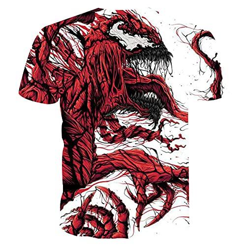 Camiseta De Manga Corta con Estampado Digital De Verano para Hombre, Cuello Redondo, Pareja Delgada, Manga Corta