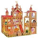 LADUO Casa de muñecas, con 36 Piezas de Accesorios para Muebles y Luces. 3 Pisos de Juguete de casa...