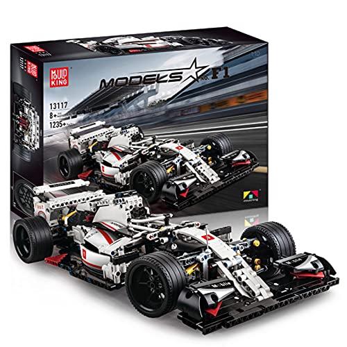 Technic 1:10 Kit di costruzione di modelli di Formula 1, set di costruzione di auto da corsa STEM Toy per 8+ bambini e adulti compatibile con LEGO Technic (1235 pezzi)