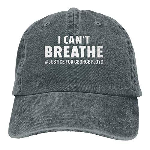 NI I Can T Breathe Cowboy Washed Cotton Hat Gorra de béisbol Polo Ajustable Trucker para Mujeres, Hombres