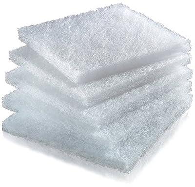 Juwel Biopad Filter for Aquarium, Box of 5, White, Size M