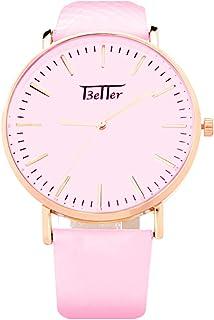 Reloj que Cambia de Color con los Rayos del Sol Carátula Diseño Clásico Correa de Cuero Sintetico