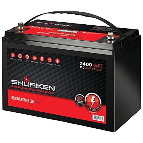 Shuriken Sk-Bt120 Battery (120 Amps, 2,400 Watts)