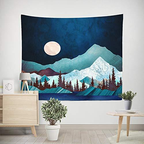 Veelkleurig tapijt Hippie Mandala Muur Opknoping Polyester Reizen Camping Zonsopkomst Psychedelisch tafelkleed Slaapdeken, bruin, 150 cm * 200 cm