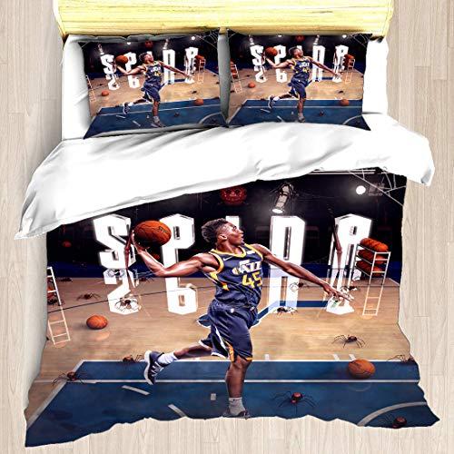 Juego de funda nórdica Asociación nacional de ropa de cama para jugadores de baloncesto Finales de los playoffs Allstar Super Star Temporada regular Post-Up Play Edredón con 2 fundas de almohada Semif