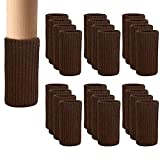 24 PCS Chair Leg Socks Knitted Elastic Furniture Leg Socks -...