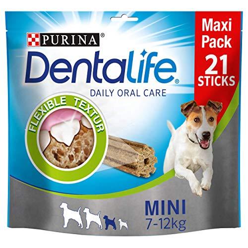 Purina DentaLife - Aperitivos de cuidado dental diario para perros, Pack of 4 x 350gr