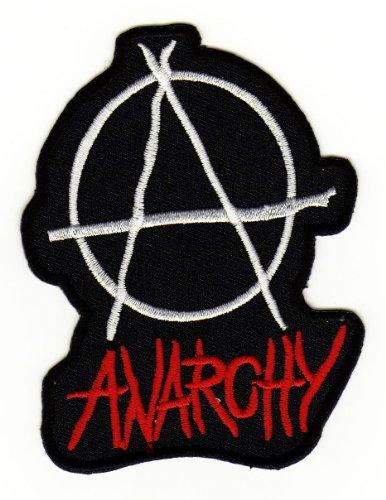 Aufnäher Bügelbild Aufbügler Iron on Patches Applikation Anarchy Punk UK EmO 5,6 x 7,4 cm