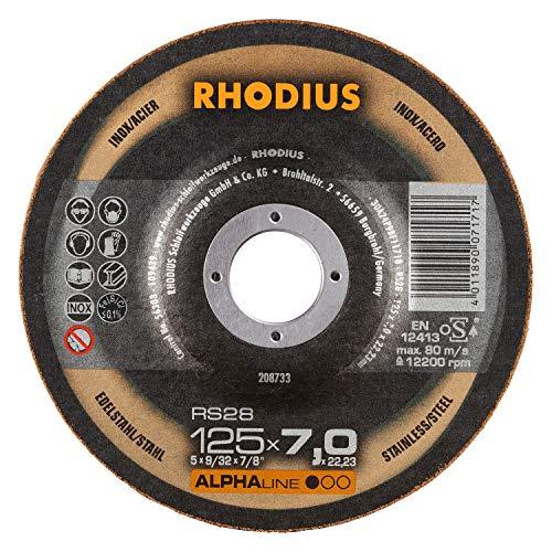 RHODIUS INOX Schruppscheiben RS28 Made in Germany Ø 125 mm für Winkelschleifer Schleifscheibe 5 Stück
