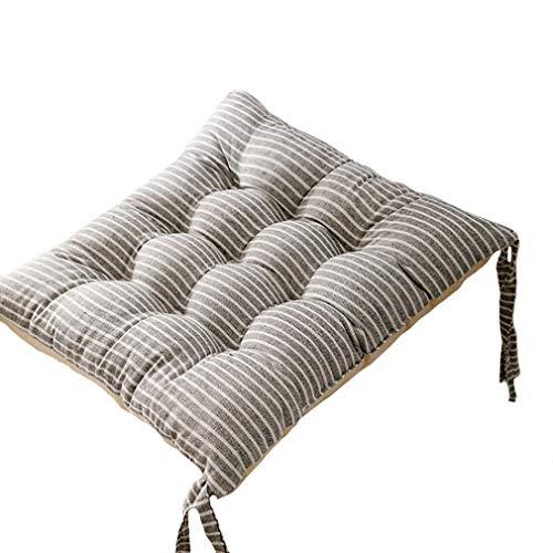 Cojines de lino de algodón 40* 40* 8 cm 2 unids espesar cojines de asiento super suave y cálido cojín almohada de piso decoración para el hogar sofá cama ventana coche