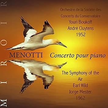 Menotti, concerto pour piano (Miroir)