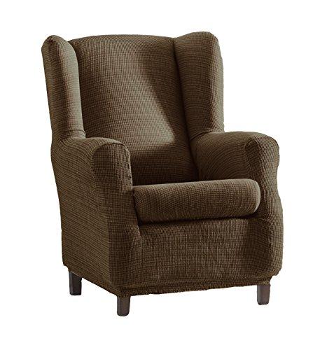 Eysa Aquiles elastisch Sofa überwurf ohrensessel Farbe 07-braun, Polyester-Baumwolle, 37 x 29 x 5 cm