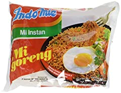 INCLUDES: 30 individually wrapped packets of Indomie Mi Goreng noodles CALORIES: 390 Calories per serving. Each serving is (1) individual packet ALLERGEN CALLOUTS: Preservatives, Sesame, Sesame Oil, Soy, Soybean, Wheat HALAL: 100% Halal certified COO...