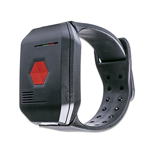 disty Pulsera de Emergencia Neo para la casa – Brazalete de Emergencia Resistente al Agua Aparato telefónico para Personas Mayores Llamada de Emergencia botón de Alarma Incluso Clip y Collar