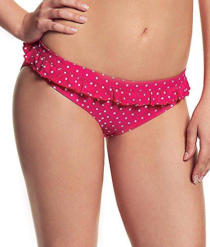 Cleo by Panache Betty Ruffle Bikini Swim Bottom, XXL, Pink