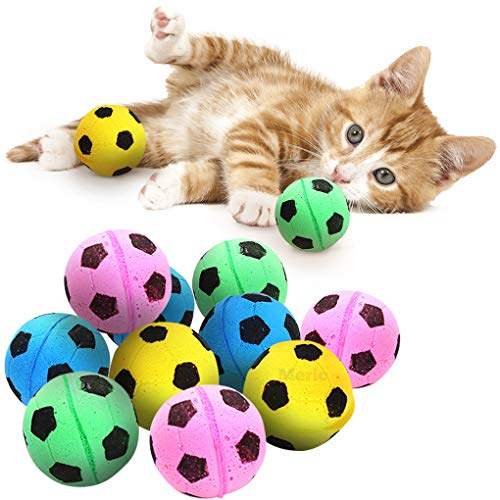 Sponge Cat Balls, Soft Foam Soccer Balls, for Exercise and Interactive Play,...