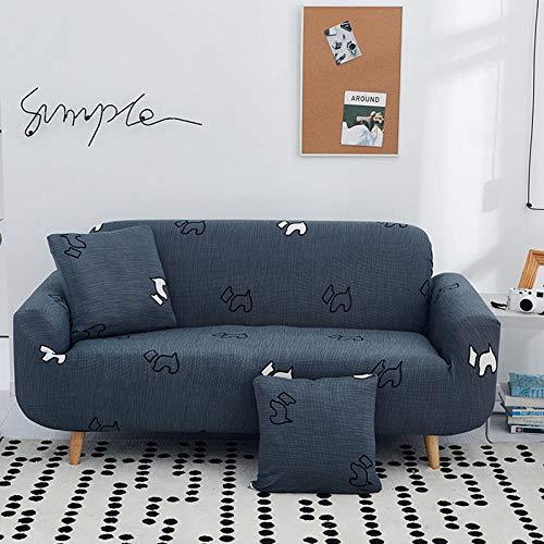 JRKJ Protector para Sofás Muebles contra Mascotas Polvo,Fundas de sofá de Fundas nórdicas para Sala de Estar Fundas de sofá elásticas de algodón elásticas seccionales Single/Two/Three/Four-Seater-F_1