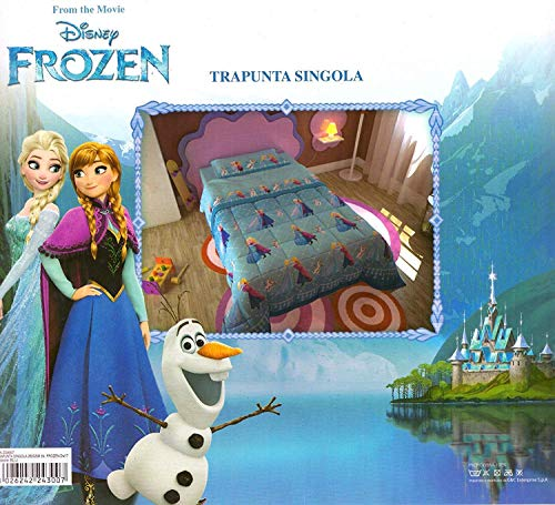 Steppdecke für den Winter, mit Elsa & Anna aus Die Eiskönigin von Disney als Motiv, 180x260cm, Füllung 320g/m²