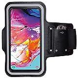 CoverKingz Sportarmband für Samsung Galaxy A70 - Armtasche mit Schlüsselfach Galaxy A70 - Sport Laufarmband Handy Armband Schwarz