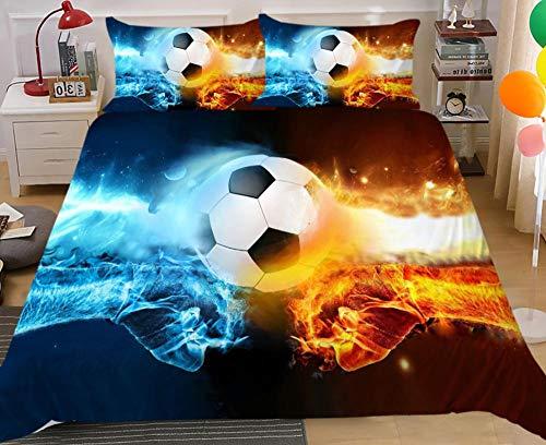 Funda de almohada con diseño de impresión en 3D de baloncesto de fútbol,es la mejor opción para los amantes de los deportes,cama individual doble tamaño king,juego de cama cómodo-10_208x228(2pcs)