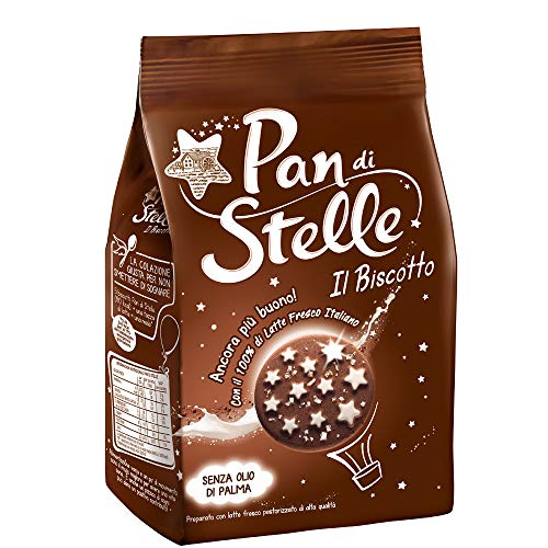 3x Mulino Bianco Kekse 'Pan di Stelle', 350 g