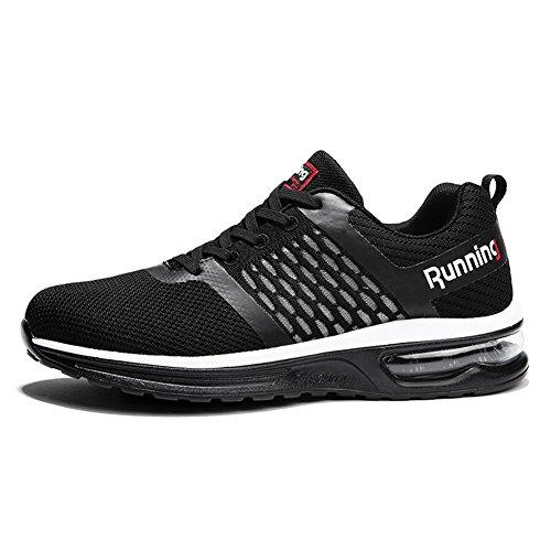 TORISKY Herren Damen Sneakers Sportschuhe Atmungsaktives Leichtes Turnschuhe Air Profilsohle Schuhe(A59-BK44)