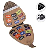 Guitar Picks Holder with 20pcs - Acoustic Electric Guitar Picks Variety Pack Mixed Thickness Picks 0.58mm 0.71mm 0.81mm 1.2mm, 1.5mm Guitar...