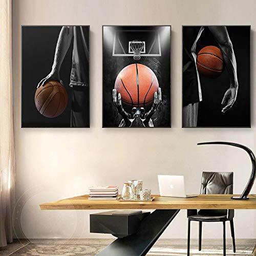 Kuingbhn Deportes Modernos Baloncesto Dream Art Posters e Impresiones Pinturas en Lienzo Imágenes artísticas de Pared para la decoración de la Sala de estar-50x70cm Sin Marco
