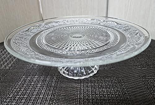 Tortera de cristal de 23cm con pie - tartera d cristal con pie - plato para postres