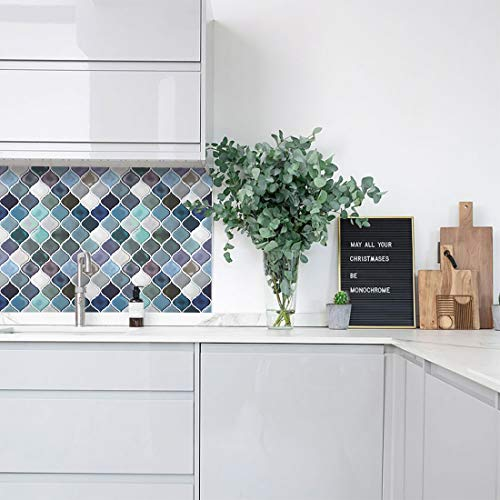 Hue Decoration Peel And Stick Decorative Tile Arabesque Import