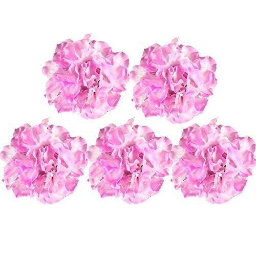 Demarkt Flores artificiales, guirnalda, regalos para fiestas, jardín, boda, decoración para el hogar, hogar, jardín, oficina, boda, 1 pieza, PP, rosa oscuro, 15 cm